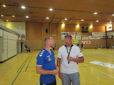 DELER ANSVARET: Hovedtrener Johnny Jensen overlater mye av ansvaret til assistent Rune Skytøen under sesongoppkjøringen. Jensen er også landslagstrener for det norske G18-landslaget som er kvalifisert for EM i Kroatia.