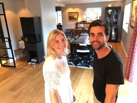 FERDIGE: Det har  vært mye jobb, men Louise og Christian Gjesdal Udgaard er veldig godt fornøyd med hjemmet sitt.