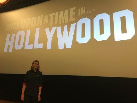 Hortens kinosjef, Cathrine Aashamar (27,) inviterer til Quentin Tarantino-premiere med 60-talls tema på Horten Kino, 16. august 2019.