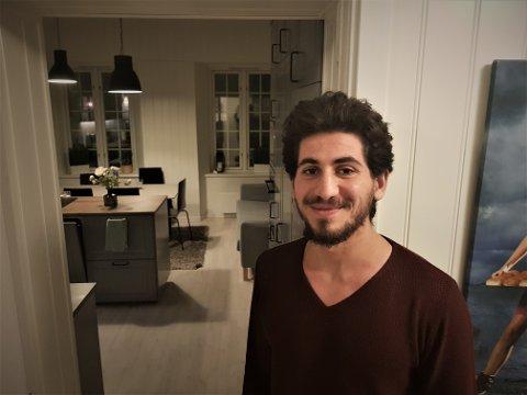 ANBEFALER: Mohammad Mahlouz Husseini flyttet inn i bofellesskapet på Karljohansvern i sommer. Han stortrives.