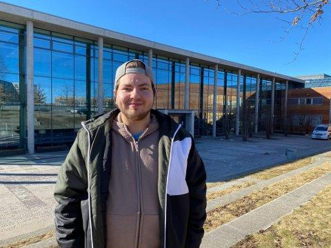 HAR EN PLAN: Victor Simonsen trives så godt i Horten, at han planlegger å bli boende videre etter studietiden.