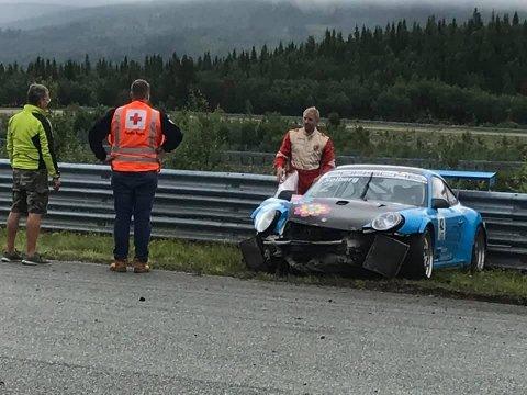 USKADET: Thomas Solberg unnslapp krasjet med kun en stiv nakke og rygg.