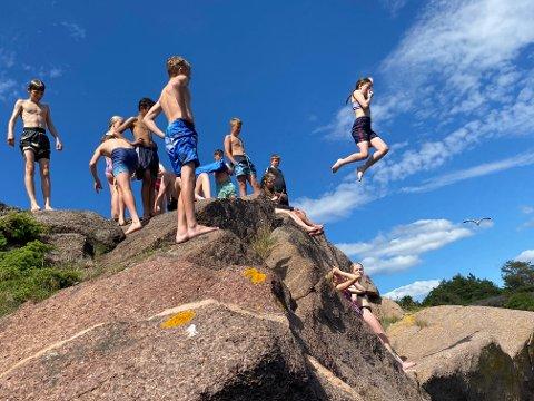 FERIEIDYLL: Mange barn og unge fra Horten deltar på Camp Vestfold i sommer.