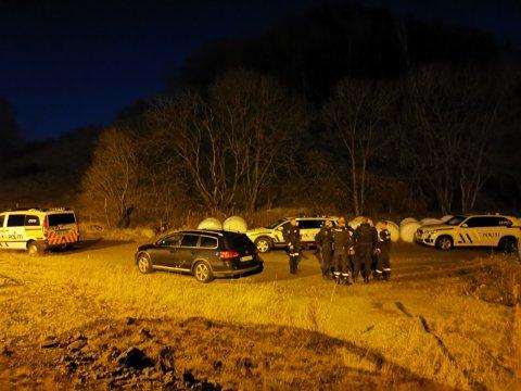 Politiet gjør seg klar til aksjon torsdag kveld.