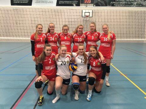 Marte Lauvås (bak fra venstre), Julie Kolberg, Karoline Bjerkreim, Pia Øfstaas, Kristin Fjeldheim og Åse Skarding. Oliwia Chomiz (framme fra venstre), Målfrid Oltedal, Korinn Hauge og Ingvild Michaelsen.