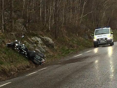 Trafikkulykke mellom Berge og Oltedal på fylkesvei 45 onsdag kveld.