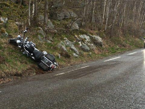 Motorsykkelulykken på fylkesvei 45 skjedde for snart to måneder siden.
