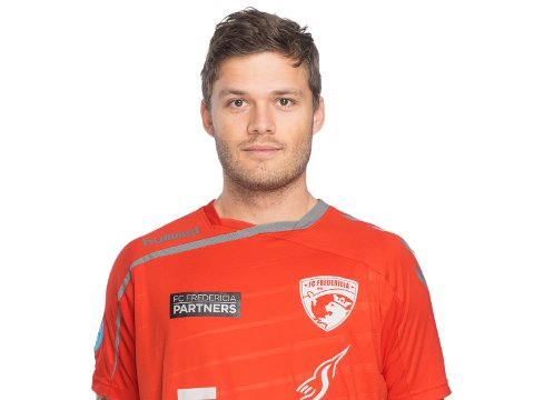 Rogvi Baldvinsson trives i FC Fredericia. Nå kan han velge å forlenge avtalen med klubben.