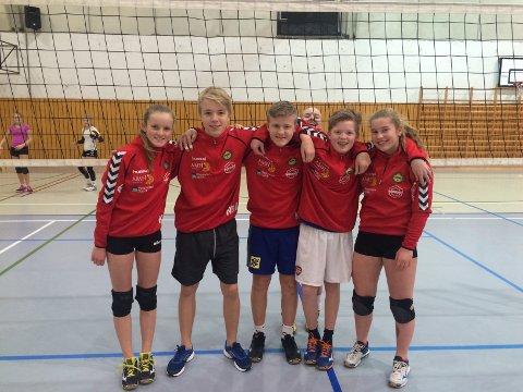 Denne gjengen skal spille region-NM i helga. Fra venstre: Karoline Bjerkreim, Fredrik Bollestad, Sondre Røykenes, Jonas Oltedal og Pia Øfstaas (foto: Nils Bjørnar Øfstaas).