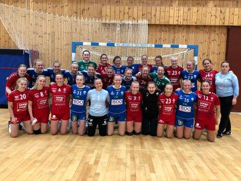 Ålgård-damene hadde besøk av divisjonskollega Fyllingen i helga. De to lagene møtes igjen til seriestart i Framohallen 7. september.