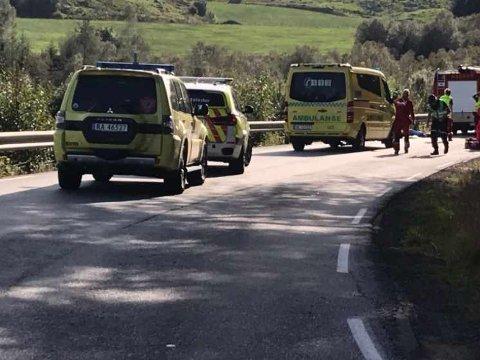Ulykka skjedde i Timeveien i Gjesdal laurdag ettermiddag.