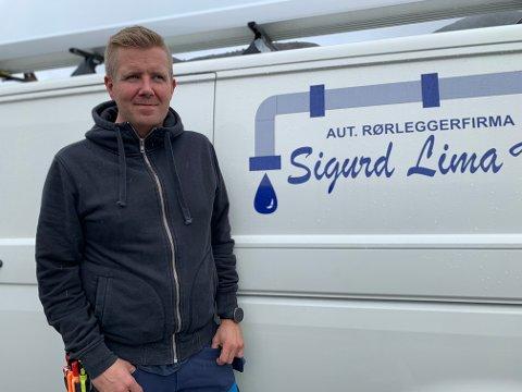 Terje Lima er daglig leder i Rørleggerfirmaet Sigurd Lima as. Fra og med i høst er han også en av ti representanter fra Arbeiderpartiet i kommunestyret.