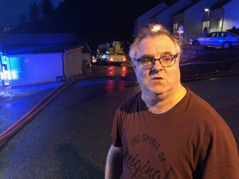 Steve Wood bor ett hus unna brannen i Ånundskaret.