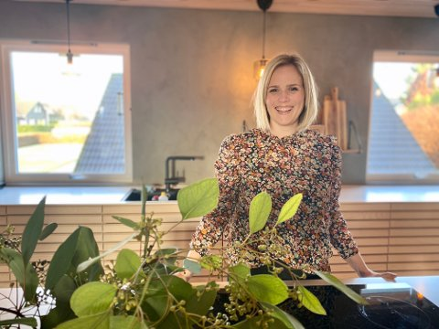 Kristina Landro i hjemmet sitt på Stangeland.