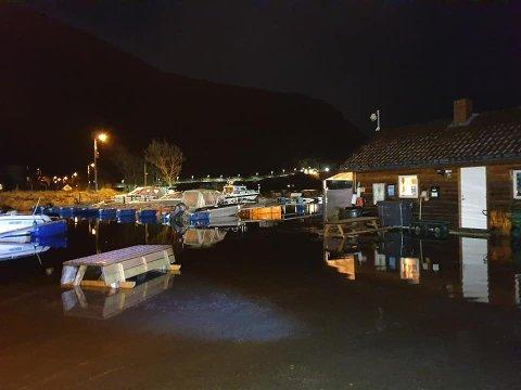 Vannet gikk høyt i Dirdal, men det førte ikke til skader.