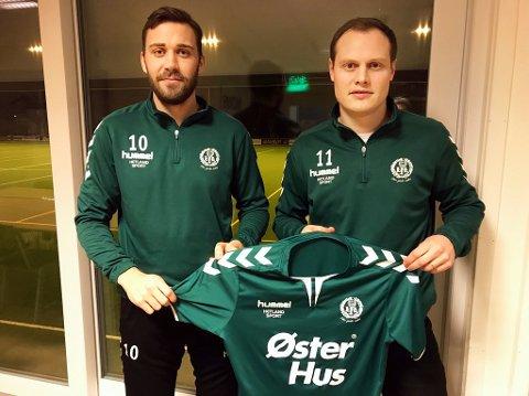SIGNERTE: Espen Nygaard og Aslak Ravndal skal lede Lura i 2020. Det bekrefter klubben onsdag kveld.