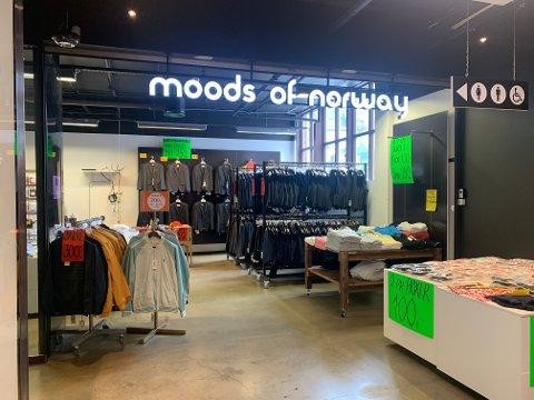 Moods of Norway legger ned butikken på Norwegian Outlet.