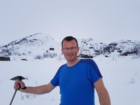 Trygve Michaelsen deltok i NRK-programmet «Påskelabyrinten» fra hytta i Hunnedalen.