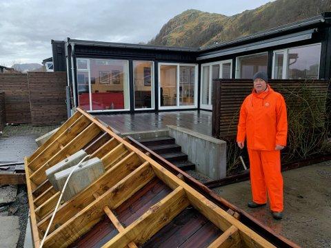 Finn Kjerpeseth må nok bygge seg en ny terrasse.