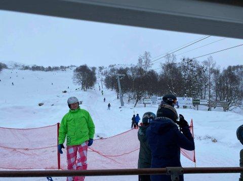 Det var flere som tok turen til Giljastølen for å stå på ski i helga.