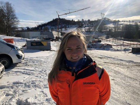 Sandra Rommetveit fra Karmøy er ny anleggsleder ved prosjektet rundt Langevatn.
