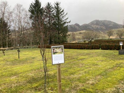 Planen er at påskevandringen på gravplassen på Gjesdal skal stå tilgjengelig for folk fra før helga og i noen uker framover.