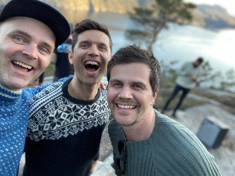 Trioen Øystein Gilje (f.v.), Tor Kjetil Espedal og Kjell Emil Berge gleder seg til å vise frem musikken de har jobbet med den siste tiden.