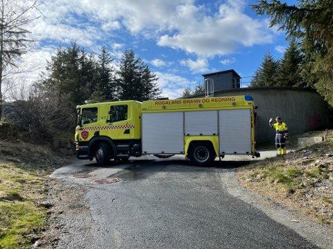 Mannskapet fra Ålgård brannstasjon var raskt ute med å slukke brannen.