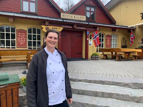 Bettina Holka stortrives i ny jobb på Byrkjedalstunet.