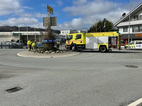 Trafikkuhellet har skjedd i Meierikrossen på Ålgård.