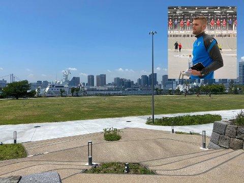 Joar Gjerde er for tiden i Japan med kvinnelandslaget i håndball.