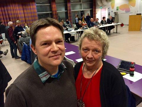 FORSLAG: Sigrun Kristoffersen (SV) og Petter Rundèn (BL) fremmet på nytt forslaget fra formannskapet om å bygge to nye skoler i Sør-Odal.