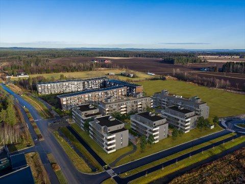 Easy Living er navnet på det nye boligprosjektet som skal bygges på Jessheim i et samarbeid mellom Solid Prosjekt og Ø.M. Fjeld AS.