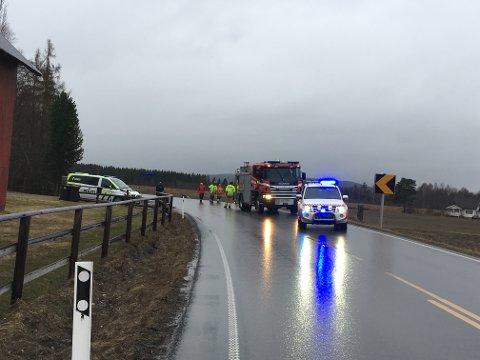 Ulykken skjedde sør for Kirkenær på RV2 i retning Kongsvinger