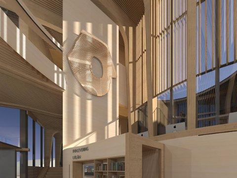 KUNSTVERK: Slik ser kunstverket ut som skal pryde heishuset i nybygget Samling.