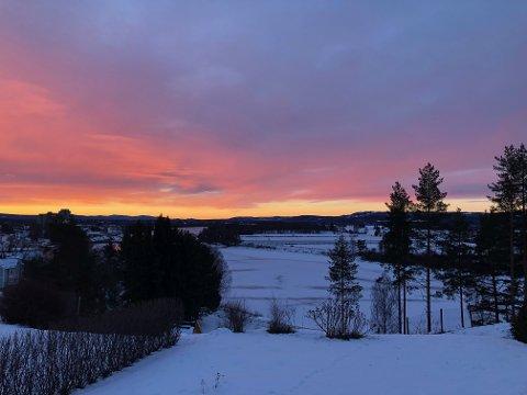 Det nye året startet med en vakker morgen.