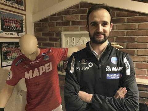 KLAR: Vitor Gazimba er klar som ny KIL-trener. Foto: Henning Danielsen