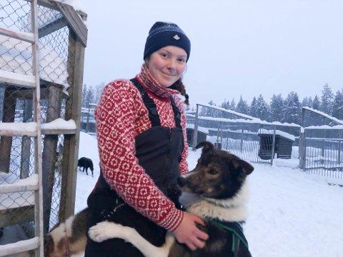 Å være alene med hundene ute i naturen er det fineste Hedda Holtet vet.