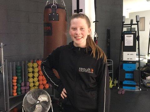 I ENGLAND: Amelie jobbet på et treningssenter i Durham, England.