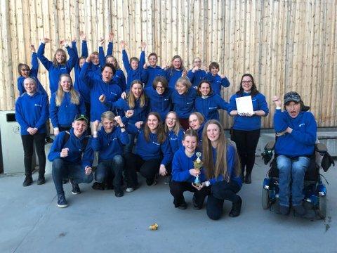 TIL TOPPS: Nord-Odal skolekorps er best i Hedmark og Oppland.
