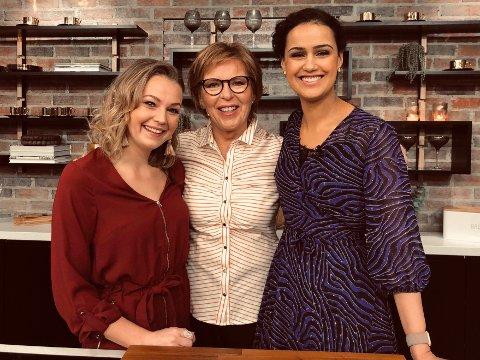 DIALEKT: Camilla B. Sagen (til venstre) snakker dialekt på TV2, og det skaper til tider reaksjoner. Men kollegene Wenche Andersen, Desta Marie Beeder, resten av TV2 og de fleste seerne liker den breie solungdialekta.