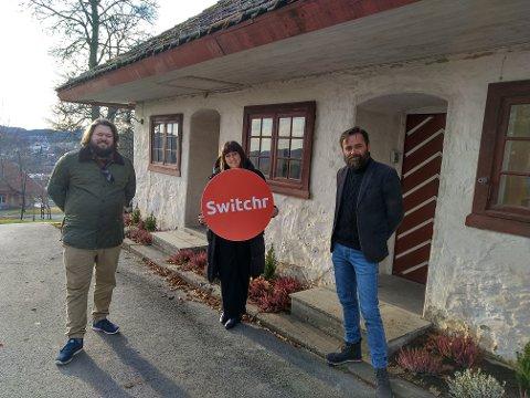 TEAMET: Tre av fem Switchr-ansatte. F.v. Christian Bråtebekken, Teresa Bergerud og Lars Dysterud Hansen.