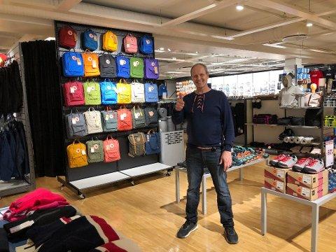 UTVIDET I VÅR: Per Arne Tollefsbøl og Nye Sporten fikk større lokaler på Kongssenteret i april. Nå planlegges nok en butikk – i Elverum.