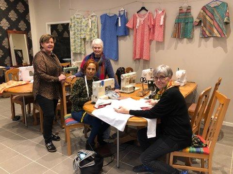 Denne gjengen finner du i det nye utsalget med redesign i Gågata. Fra venstre Irene Sørli Holth, Nazanet Kefela og Wenche Broen. Bak står Anne Hagen.