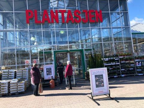Plantasjen er en av virksomhetene som merker større kundetilstrømming og salg på dagtid nå.