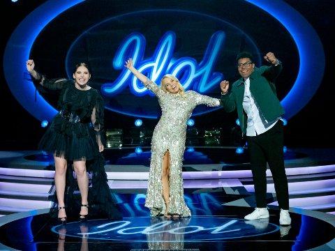 Idol, program 7.  Mari Bølla, Oda Kristine Gondrosen og Tore Pedersen er klare for finalen i Idol 2020.
