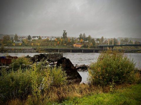 KONGSVINGER: Slik ser Glomma ut i Kongsvinger i 16-tiden lørdag ettermiddag.