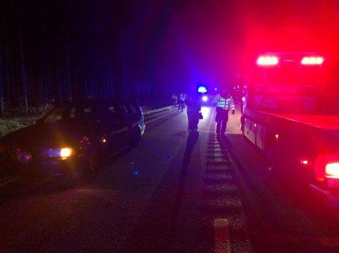 ULYKKE: Det var i alt seks personer involvert i ulykken.