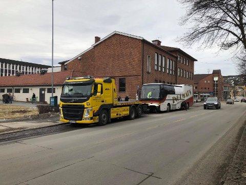 Her ankommer bussen til Ingemars - på en litt spesiell måte.