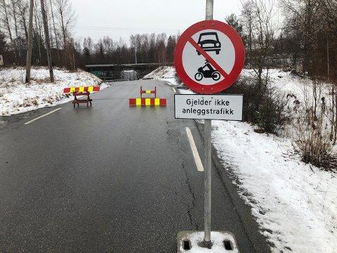 STENGT: Mellandsveien på Galterud (fv. 175) vil være stengt fram til 30. juni. FOTO: SIGMUND FOSSEN